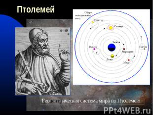 ПтолемейГеоцентрическая система мира по Птолемею
