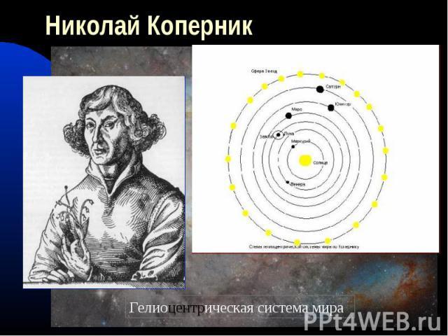 Николай КоперникГелиоцентрическая система мира