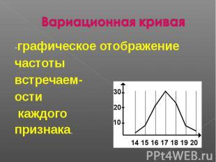 -графическое отображение частоты встречаем-ости каждого признака.