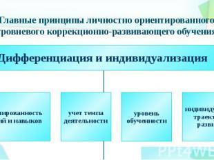 Главные принципы личностно ориентированного уровневого коррекционно-развивающего