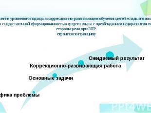 Включение уровневого подхода в коррекционно-развивающем обучении детей младшего