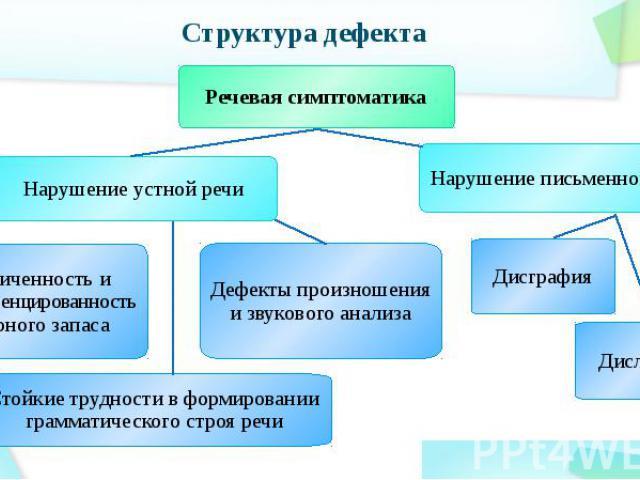 Структура дефекта