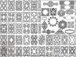 Первоначально в арабском орнаменте преобладали растительные элементы, что являет