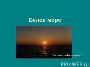 Белое мореСоставитель Большаков С.В