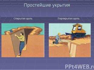 Простейшие укрытияОткрытая щель Перекрытая щель