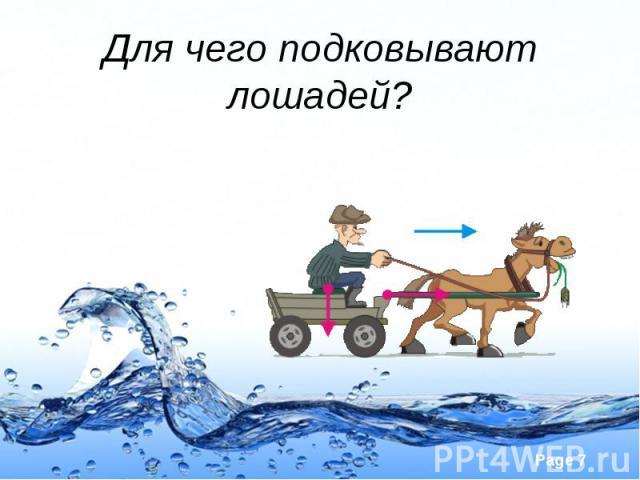 Для чего подковывают лошадей?