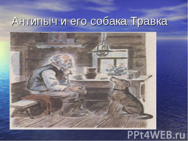 Антипыч и его собака Травка