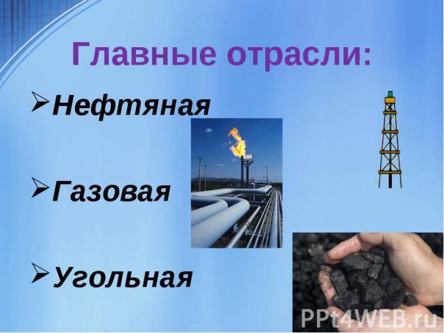 НефтянаяГазоваяУгольная