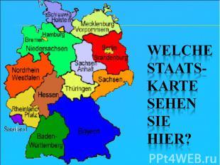 Welche Staats-Karte sehen sie hier?