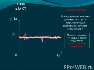 Почему среднее значение давления газа р0 в закрытом сосуде практически остается