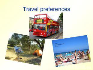 Travel preferences