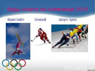 Виды спорта на олимпиаде 2014 Фристайл Хоккей Шорт-трек