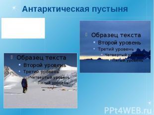 Антарктическая пустыня