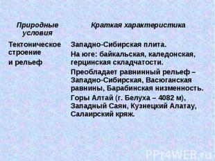 Западно-Сибирская плита. На юге: байкальская, каледонская, герцинская складчатос