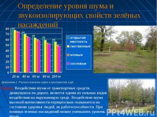 Определение уровня шума и звукоизолирующих свойств зелёных насажденийВывод: Возд