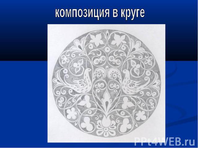 композиция в круге