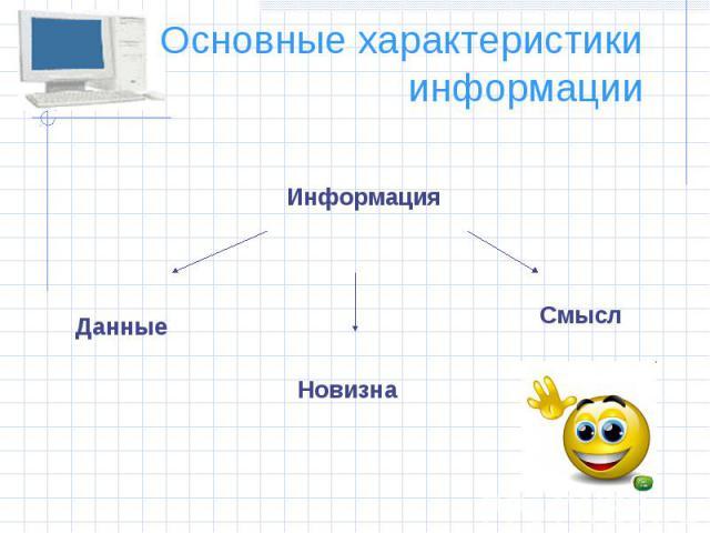 Основные характеристики информации
