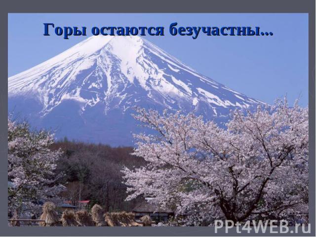 Горы остаются безучастны...
