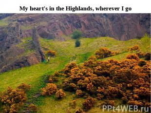 My heart's in the Highlands, wherever I go