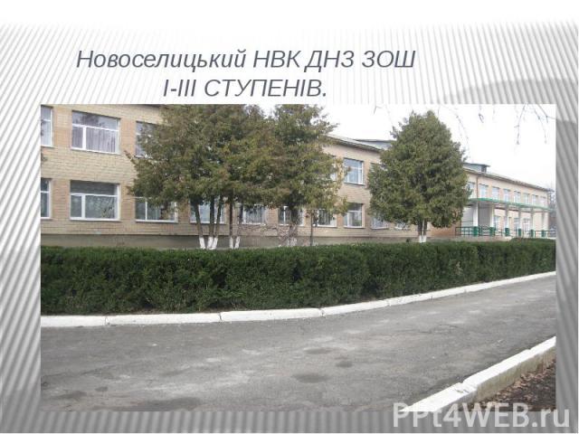 Новоселицький НВК ДНЗ ЗОШ I-III СТУПЕНІВ.