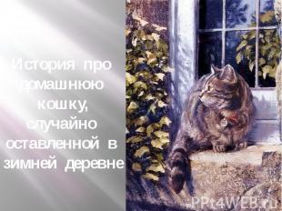 История про домашнюю кошку, случайно оставленной в зимней деревне