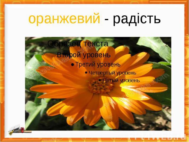 оранжевий - радість