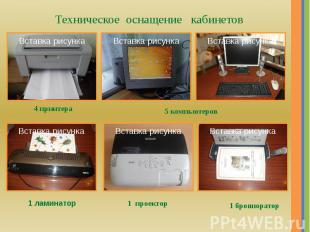 Техническое оснащение кабинетов