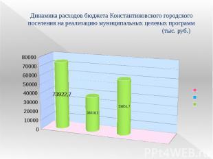 Динамика расходов бюджета Константиновского городского поселения на реализацию м