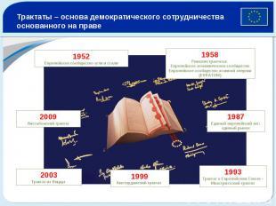 Трактаты – основа демократического сотрудничества основанного на праве