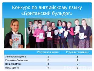 Конкурс по английскому языку «Британский бульдог»