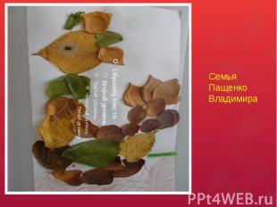 Семья Пащенко Владимира