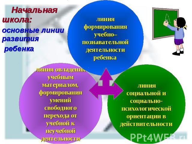 Начальная школа: Начальная школа: основные линии развития ребенка
