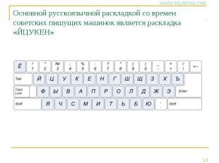 Основной русскоязычной раскладкой со времен советских пишущих машинок является р