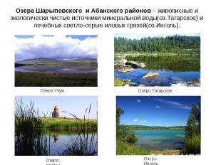 Озера Шарыповского и Абанского районов – живописные и экологически чистые источн