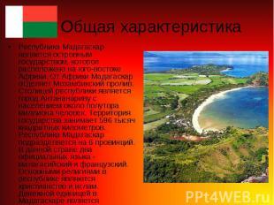 Республика Мадагаскар является островным государством, которое расположено на юг