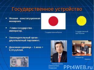 Япония - конституционная монархия. Япония - конституционная монархия. Глава госу