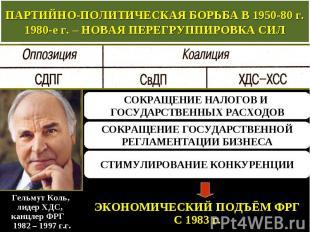 ПАРТИЙНО-ПОЛИТИЧЕСКАЯ БОРЬБА В 1950-80 г. 1980-е г. – НОВАЯ ПЕРЕГРУППИРОВКА СИЛ