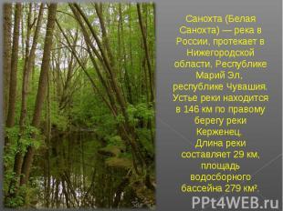 Санохта (Белая Санохта) — река в России, протекает в Нижегородской области, Респ