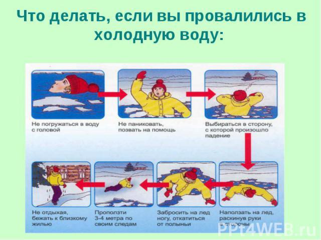 Что делать, если вы провалились в холодную воду: