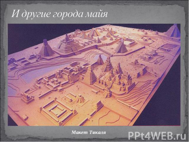 И другие города майяМакет Тикаля