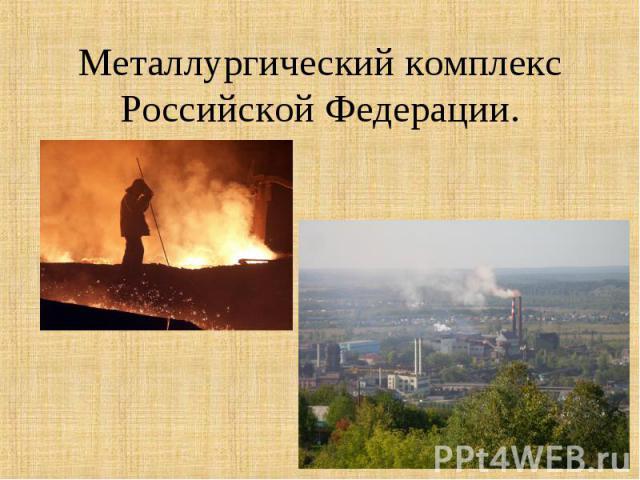 Металлургический комплекс Российской Федерации