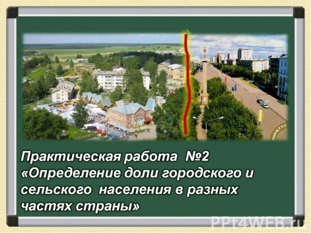 Практическая работа №2 «Определение доли городского и сельского населения в разных частях страны»