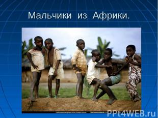 Мальчики из Африки.