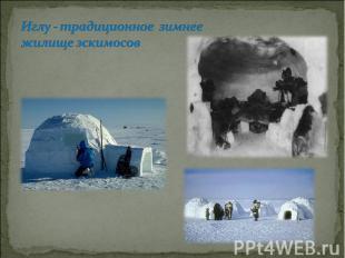Иглу - традиционное зимнее жилище эскимосов