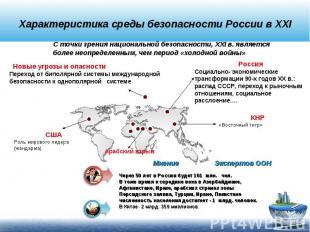 Характеристика среды безопасности России в XXIС точки зрения национальной безопа