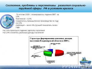 Состояние, проблемы и перспективы развития социально- трудовой сферы РФ в услови