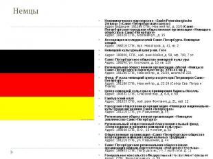 Немцы Некоммерческое партнерство«Sankt-Petersburgische Zeitung»(«Санкт-Петербу