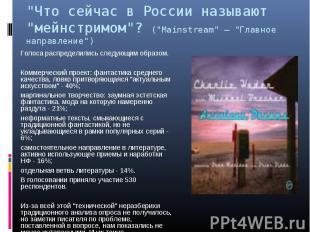 """""""Что сейчас в России называют """"мейнстримом""""? (""""Mainstream"""" — """"Главное направлени"""