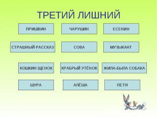 ТРЕТИЙ ЛИШНИЙ