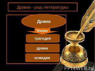 Драма - род литературыДрама